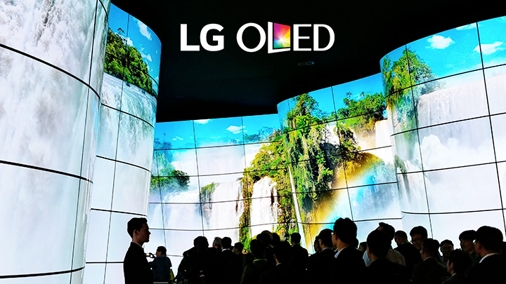 LG Treats CES Attendees to an Amazing Walk Through OLED Canyon