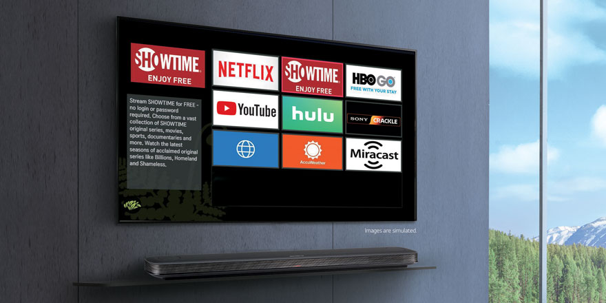 OTT Smart Applications Supported by LG Pro:Centric for Commercial Use