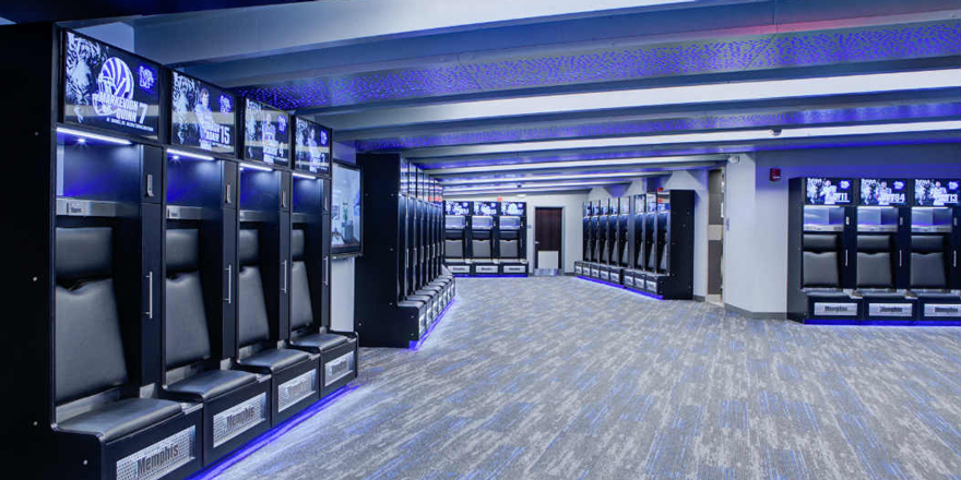 Memphis Tigers Locker Room Now Sports 105 LG Displays