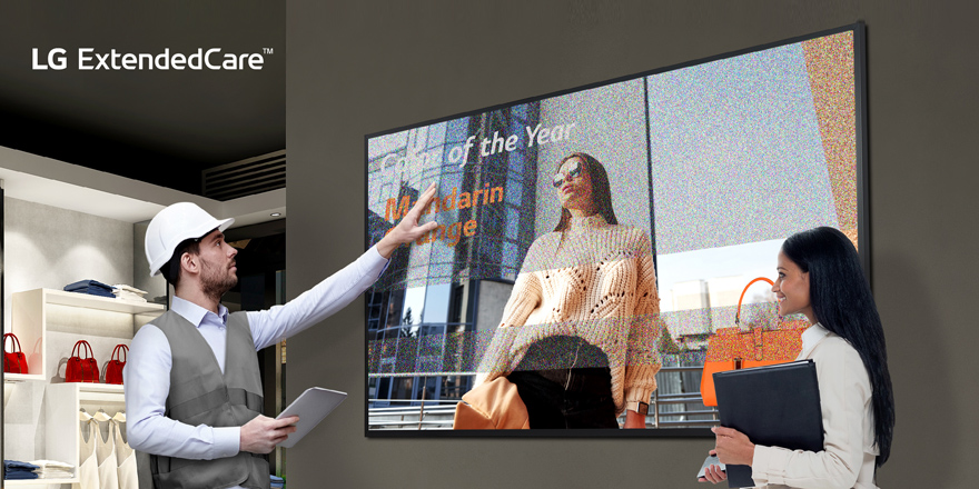 Introducing LG ExtendedCare™ — Peace of Mind for Your LG Commercial Display Investment
