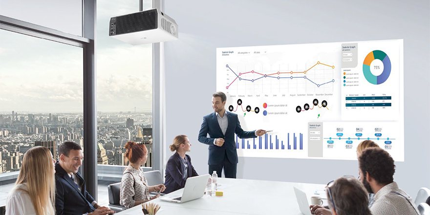LG ProBeam 4K Laser Projector for Business Provides Immersive Picture Quality, Use-Anywhere Versatility